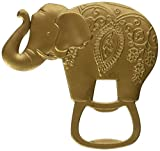 Kate Aspen Lucky Golden Elephant Bottle Opener Antique Gold