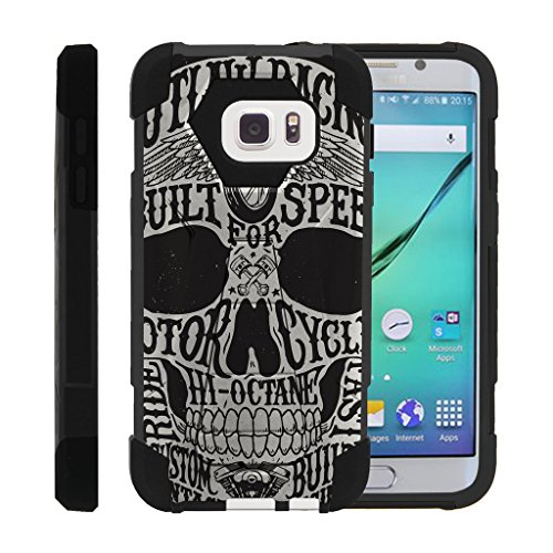 Galaxy S7 Phone Case, Dual Layer Shell SHOCK High Impact Kickstand Case with Unique Skull Designs Samsung S7 by Miniturtle - Motorcycle (Skull Motor)