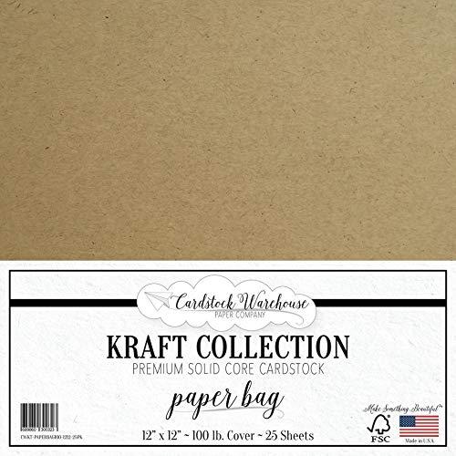Paper Bag Kraft Recycled Cardstock - 12