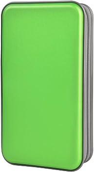 Estuche de CD, Alachi EU 96 Capacidad de plástico Duro Cremallera de Viaje Estuche de Billetera de Almacenamiento de CD (96 Capacidad, Verde): Amazon.es: Electrónica