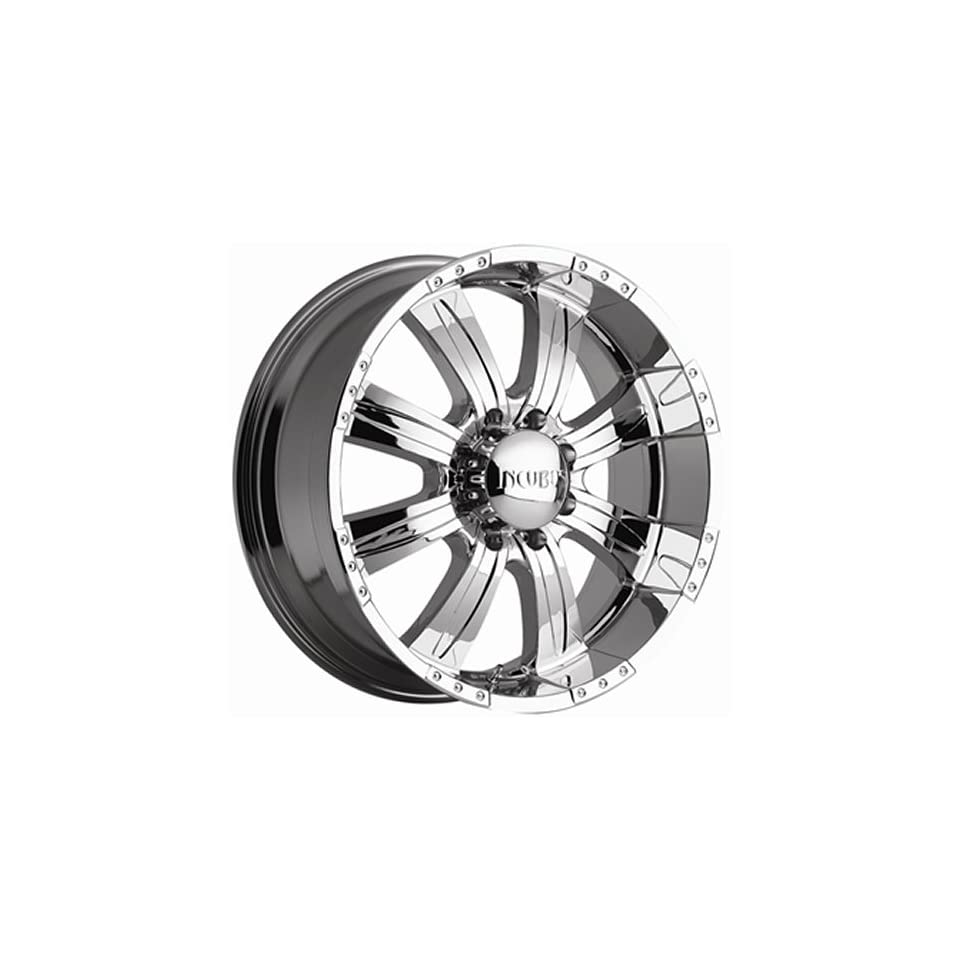 Incubus Poltergeist 22x9.5 Chrome Wheel / Rim 5x5 & 5x135 with a 18mm Offset and a 87.00 Hub Bore. Partnumber 501095053+18C