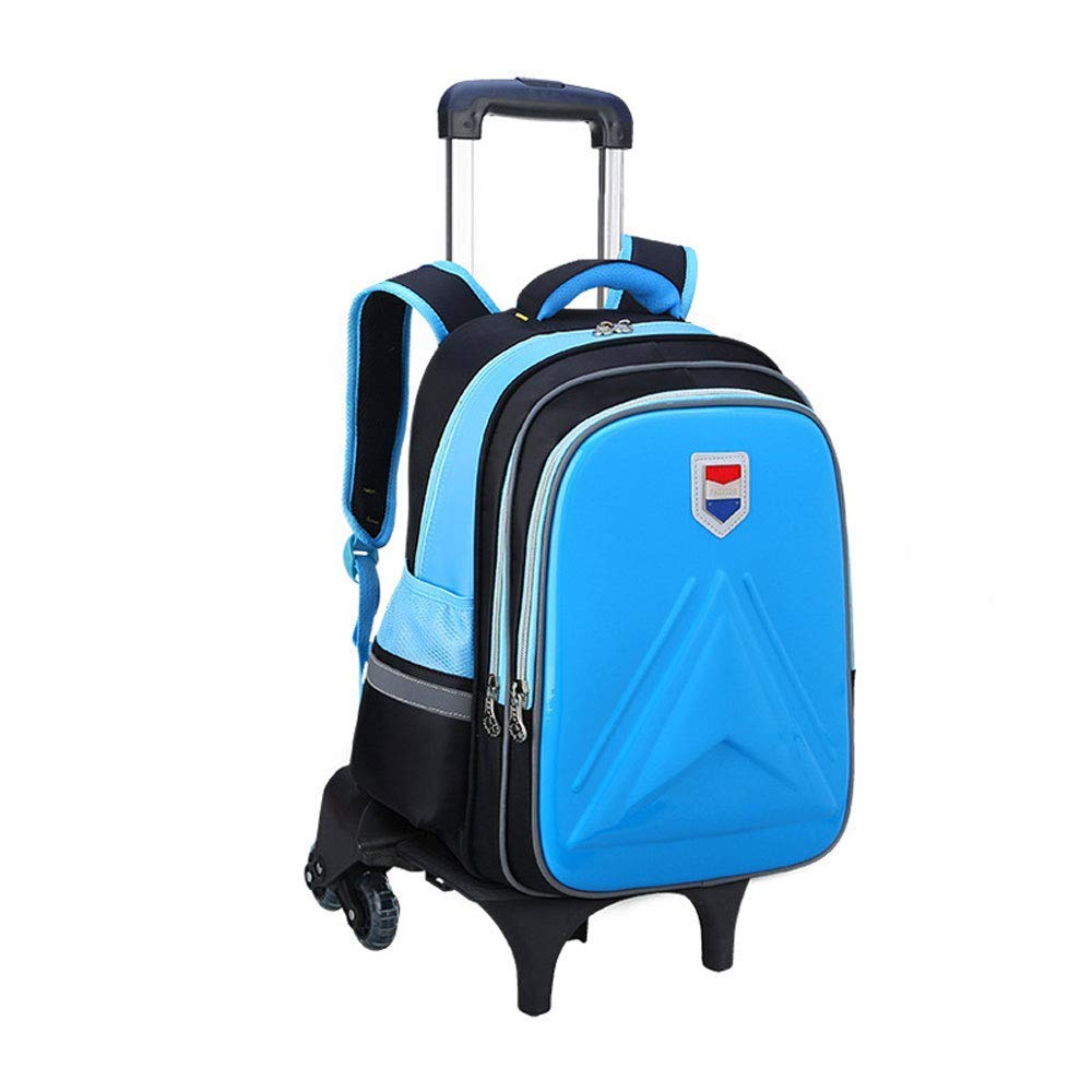 A Large Capacity Trolley Bag Boy Girl Primary School (612 Years Old) Waterproof EVA Backpack Detachable ThreeWheeled Trolley Backpack Decompression Ridge Can Climb Stairs (Suitable For Grades 36),A