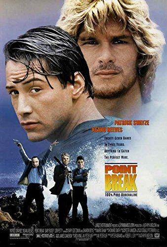 Point Break Movie Poster Patrick Swayze, Keanu Reeves, C, Made In The U.S.A
