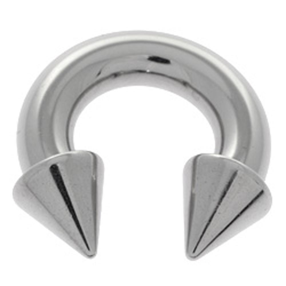 Cones 5mm x 19mm BodyJewelleryShop Large Gauge Steel Circular Barbell