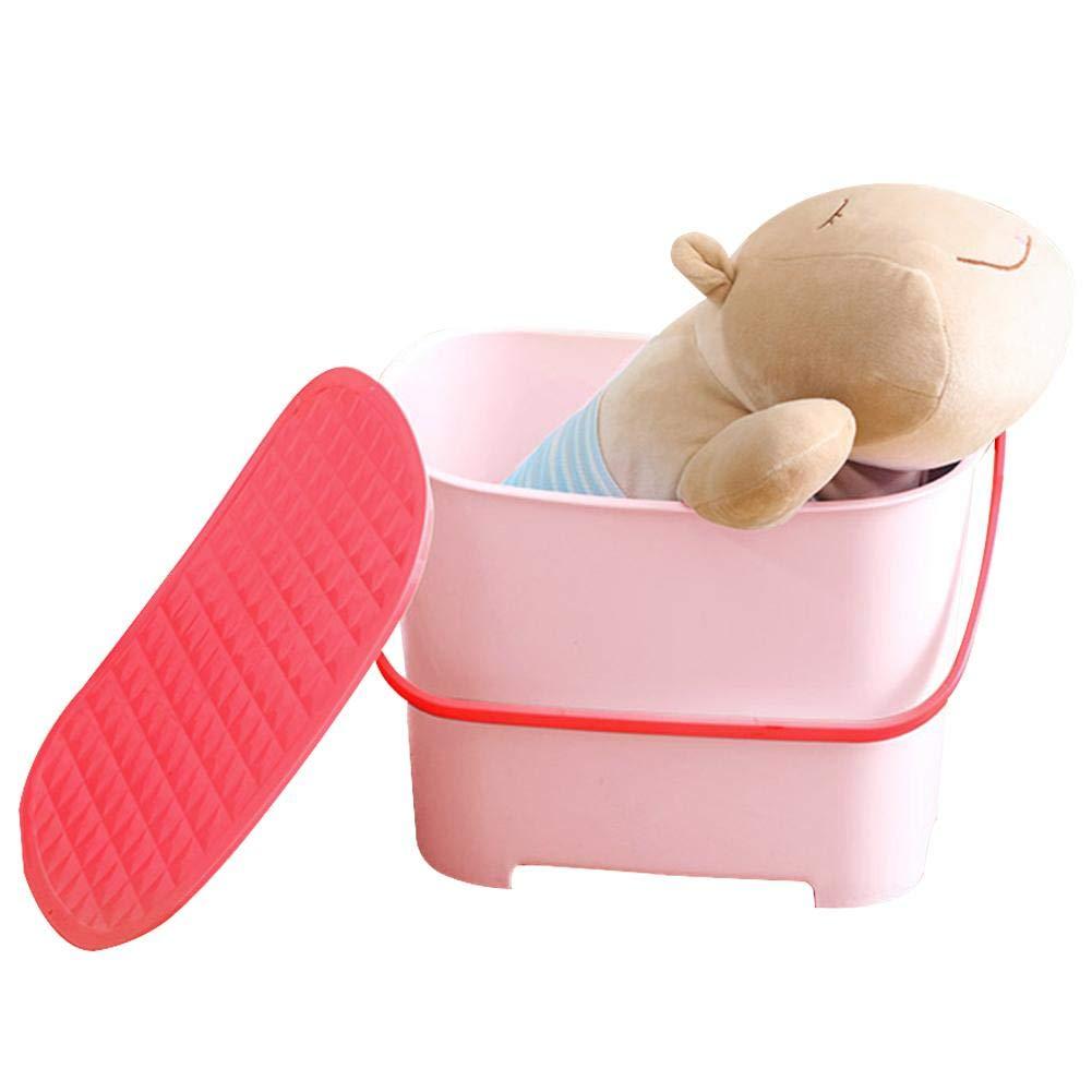 Per Cajas de Almacenamiento Taburetes Antideslizantes para Niños Cajas de Almacenaje Multifuncionales Aisento Bebés Per Trading