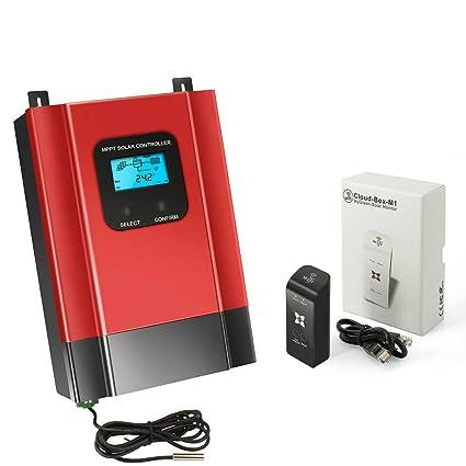 Amazon com: NOBLJX 40A MPPT Solar Charge Controller 12V