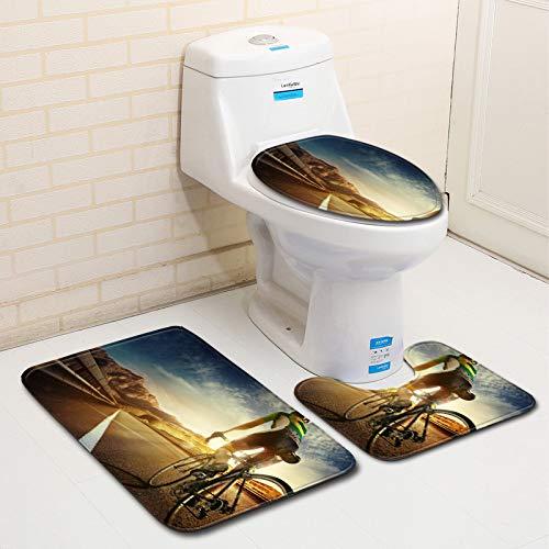 CHLCH 3D - Alfombra de baño Antideslizante para Cuarto de ...