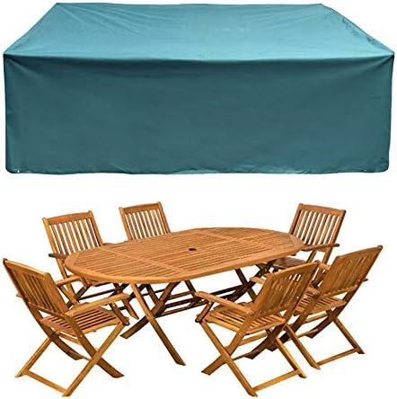 ガーデンテーブル カバー ガーデンウィッカーチェア家具防水ケースダストカバー表椅子キューブガーデン保護ケース 防水 防塵 多機能 家具カバー (色 : Blue, Size : S)