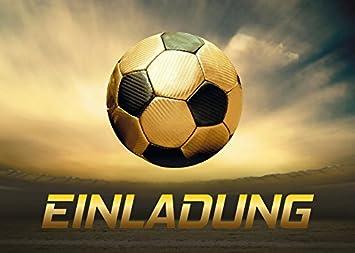 10 Einladungskarten Kindergeburtstag Jungen Fussball Geburtstag