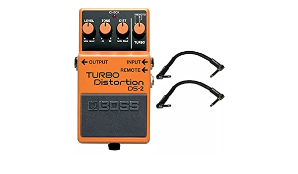 Amazon.com: Boss DS-2 Turbo Distortion and 2 Roland Black Series 6 inch Patch Cables: Musical Instruments