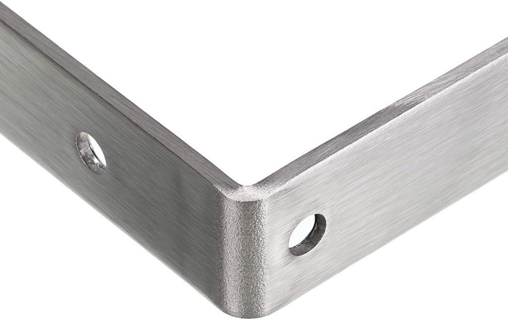 4 unidades, 12,7 x 7,6 cm BTSKY Soportes para Estante Estanter/ía en Forma de Rect/ángulo de Hierro 4Pcs Fijado en Pared para Estantes Tableta de Madera Soporte de Esquina Desmontable