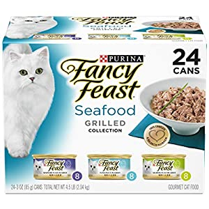 Purina Fancy Feast Gravy Wet Cat Food Variety Pack, Seafood Grilled Collection - (24) 3 oz. Cans 32