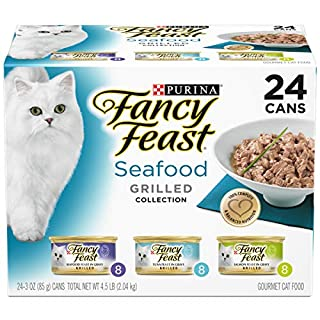 Purina Fancy Feast Gravy Wet Cat Food Variety Pack, Seafood Grilled Collection - (24) 3 oz. Cans (B001STX13U) | Amazon price tracker / tracking, Amazon price history charts, Amazon price watches, Amazon price drop alerts
