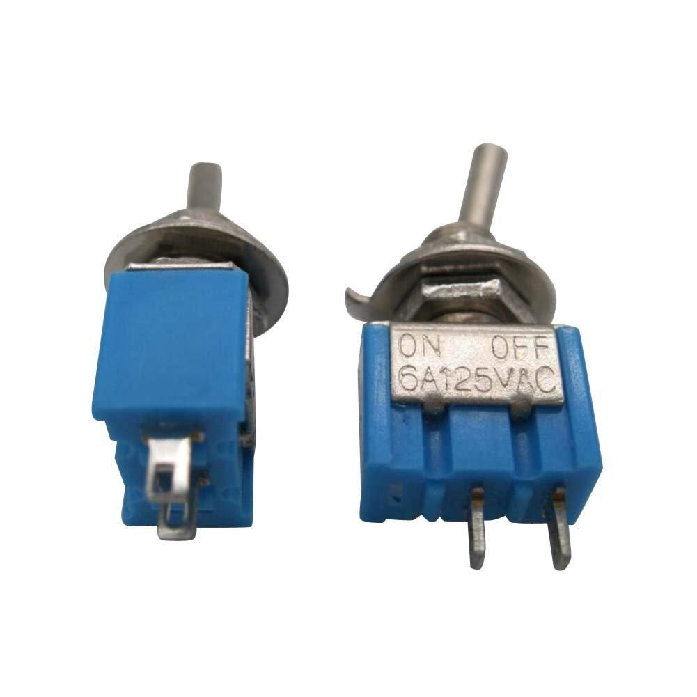 Taiss//10pcs mts-101 ON//Off Mini Miniature Toggle Switch Car Dash Dashboard SPST 2Pin