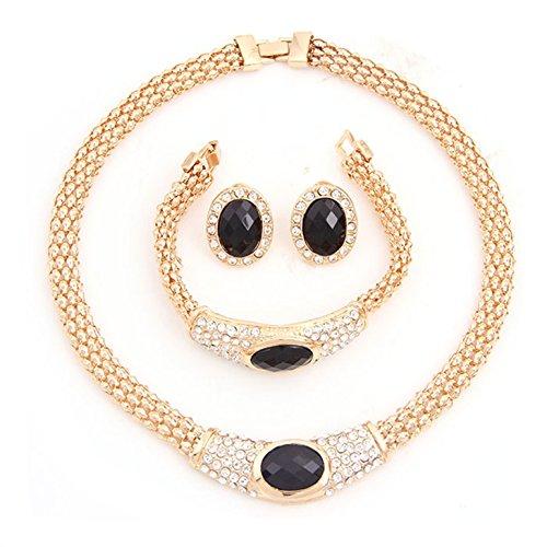 Collier Plaqué Or Boucles d'oreilles africain de mariage bijoux