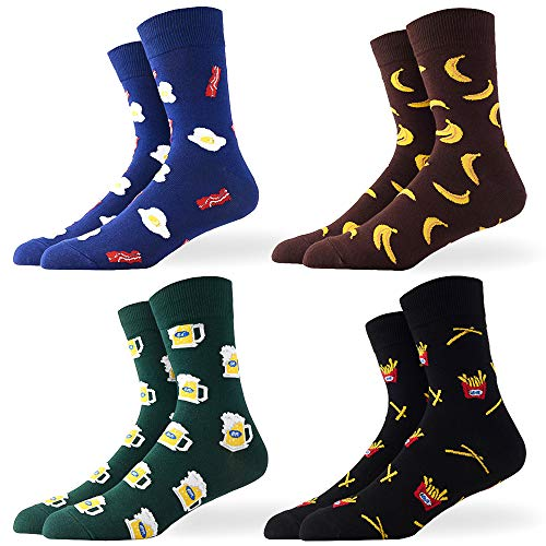 Men's Novelty Funny Crazy Food Crew Socks Colorful for sale  Delivered anywhere in USA