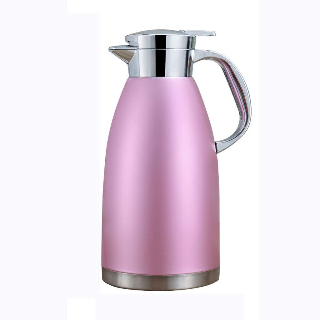 FYCZ Isolierkanne, 1.8 L Doppelwandig Isolierte Edelstahl Thermokaffeekaraffen Heiße Kaltgetränke Saftkanne Tee Isolierkanne 60 Oz (1800)