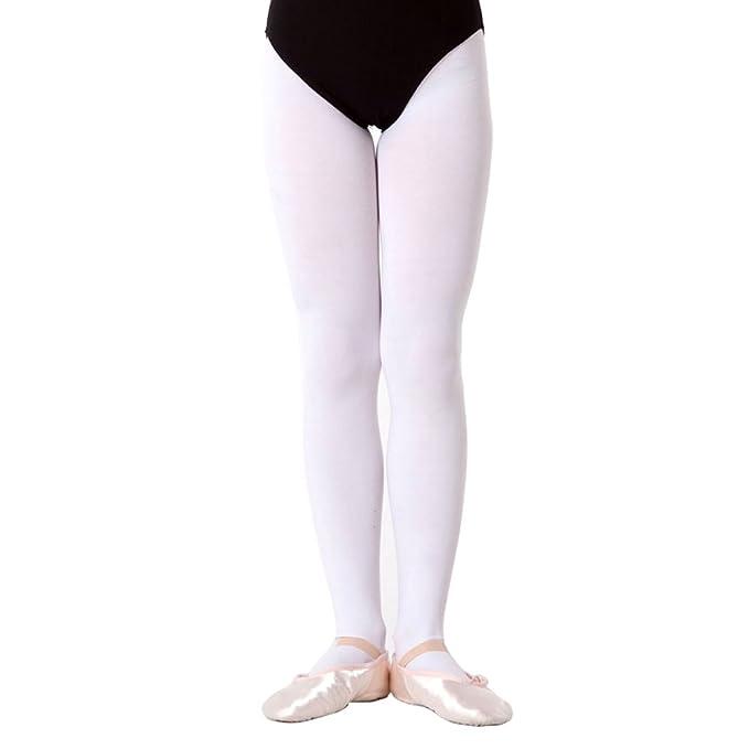 a1110b036998e Kids Ballet Tights Child Girls 120 Denier Tap Modern Dance Stockings  Dancewear White: Amazon.co.uk: Sports & Outdoors