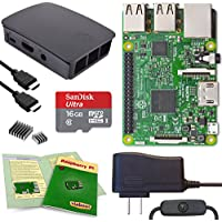 Viaboot Raspberry Pi 3 Complete Kit — Official Micro SD Card, Official Black/Gray Case Edition