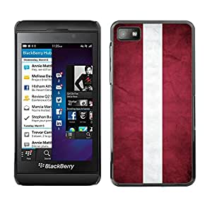 Shell-Star ( National Flag Series-Latvia ) Fundas Cover Cubre Hard Case Cover para BackBerry Z10