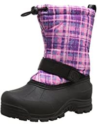 Kids' Frosty Winter Boots, Purple Plaid, 11 Little Kids