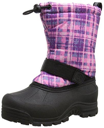 Northside Kids' Frosty Winter Boots, Purple Plaid, 11 Little Kids