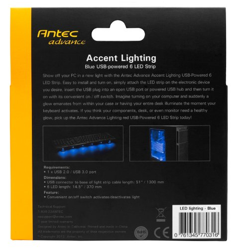 Komplett Neu Amazon.com: Antec Advance Accent Lighting USB-powered 6 LED Strip  CH68