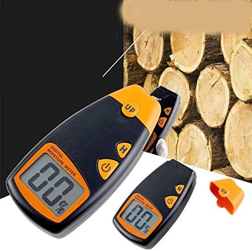 0-99.9% Two Pins Digital Wood Moisture Meter,Wood Humidity Tester Hygrometer Damp Detector Large LCD Display