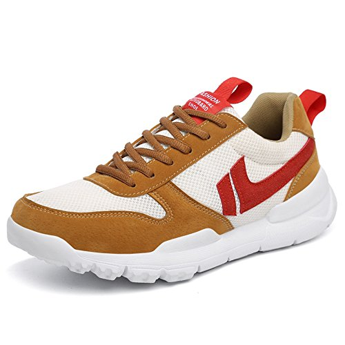 Size Brown Shopping Anti Shoes Size up Go Outsole Fashion Cricket Lace Easy Sport Shoes Slip Sneaker Large to 47EU up Ankle RXqaC5