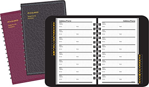 AT-A-GLANCE Large Telephone / Address Book, Undated, 800 Entries, 4.88 x 8 Inches, 1 Book, Assorted Colors - Color May Vary (80011-00)