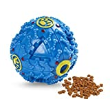 Foodie Puppies Dog Treat Dispensing Toy & Squeaky Dispenser Ball for Dogs (Color May Vary)
