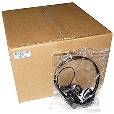 50 QTY Over the Head Low Cost Headphones in Bulk