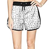 Eoyles City Life Summer Beachwear Quick Dry Beach Short Shorts for Women Tropical Shorts