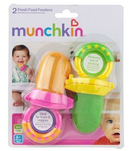 Munchkin Fresh Food Feeders, 6+ Months, 2 ct (Pack of 3)