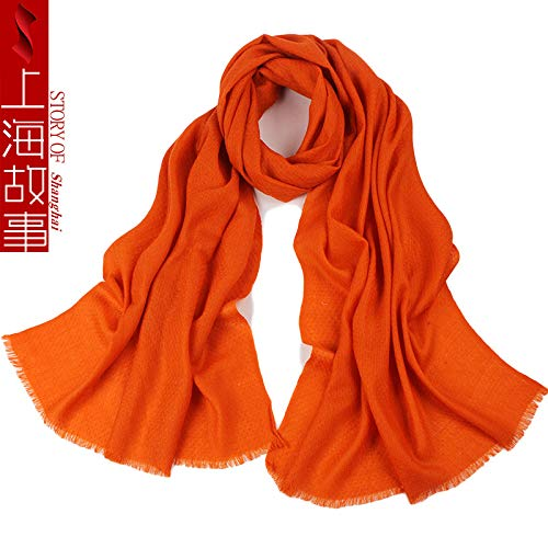 7964b341641e HITSAN INCORPORATION high quality womens wool scarf all match solid color  pashmina scarves winter warm wraps
