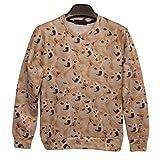Snlydtan Funny Women Men Husky Dog Doge Kabosu Sweatshirt Hoodies Clothing M
