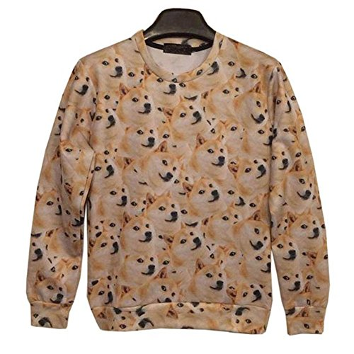 Snlydtan Funny Women Men Husky Dog Doge Kabosu - Doge Sweatshirt