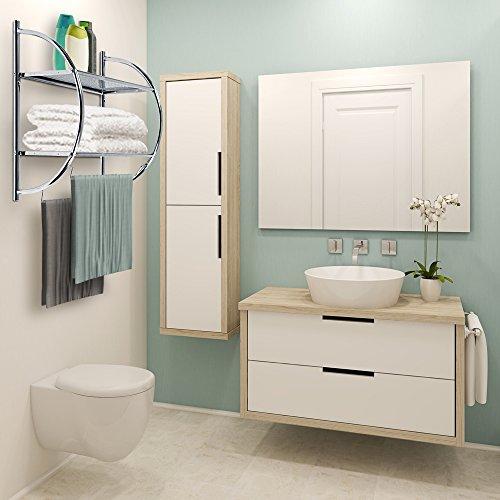 Jago estanter a de ba o con 2 baldas medidas aprox 54 x 45 x 26 cm muebles de ba o online - Amazon estanterias bano ...