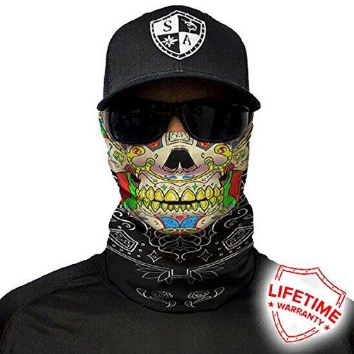 Salt Armour Face Mask Shield Protective Balaclava Bandana Microfiber Tube Neck Warmer (Calavera Skull)