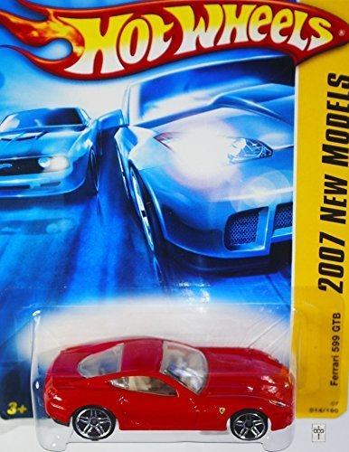 2007 New Models -#14 Ferrari 599 GTB Red #2007-14 Collectible Collector Car Mattel Hot Wheels 1:64 Scale Collectible Die Cast Car ()