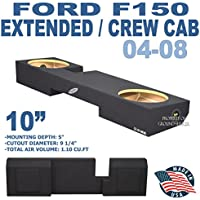04-08 Ford F150 Extended Cab & Crew Cab 10 Subwoofer Enclosure