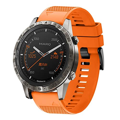 Clearance Sale!DEESEE(TM)Replacement Silicagel Soft Band Quick Install Band for Garmin MARQ 5 Style (Orange)