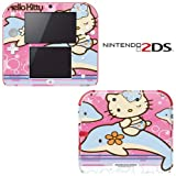 Hello Kitty Dophin Princess Decorative Video Game Decal Cover Skin Protector for Nintendo 2Ds
