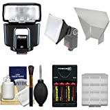 Nissin Digital i40 Speedlite E-TTL Flash with Batteries & Charger + Softbox + Reflector + Kit for Canon EOS 6D, 70D, 5D Mark II III, Rebel T3, T3i, T4i, T5, T5i, SL1 DSLR Cameras