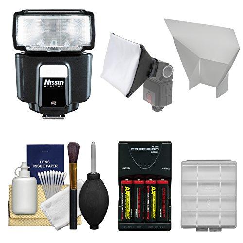 ニッシンデジタルi40 Speedlite Flash with電池&充電器+ソフトボックス+リフレクター+キットfor Fuji x-a1 x-e1 x-e2 x-m1  X t1  X pro1カメラ