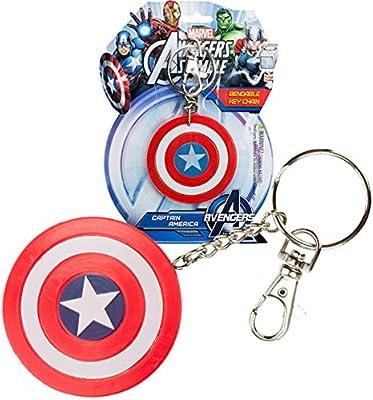 Amazon.com: NJ Croce Captain America Shield clave Cadena ...