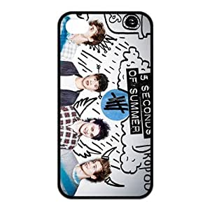 AMAF ? Accessories Custom Design 5 Seconds of Summer 5sos TPU Snap On Cover Case For iPhone 4 4s [ 5 sos ] hjbrhga1544