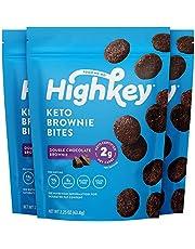 HighKey Snacks Keto Low Carb Food Chocolate Brownie Cookie Bites - Paleo, Diabetic Diet Friendly - Gluten Free, Low Sugar Dessert Treats & Sweets & Ketogenic Products Healthy Protein Brownies