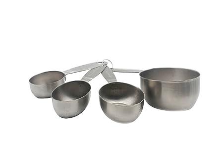 yasikee - Set de 4 tazas medidoras de acero inoxidable con ...