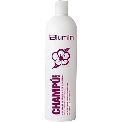 Blumin Urban Champú de Leche de Arroz y Flor de Cerezo sin Silicona y Sin Parabenos